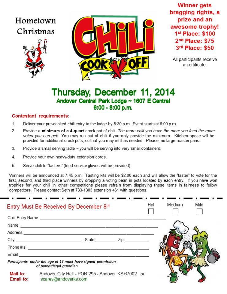 Andover Chili cook off 2014